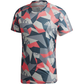 adidas OWN The Run T-Shirt Heren, orbit grey/signal pink/legacy blue